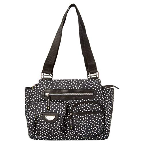 Lily Bloom Remi Triple Section Satchel with Exterior Pockets (Dancing Dots), Medium