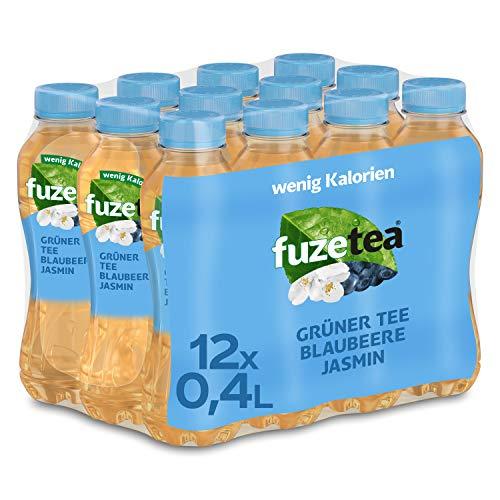 Fuze Tea Grüner Tee Blaubeere Jasmin Einweg, 12er Pack (12 x 400 ml)