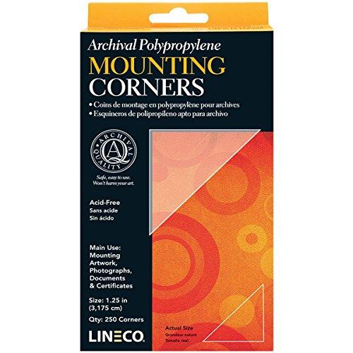 "Lineco Polypropylene Photo Mounting Corners 256/Pkg-Clear 1.25"""