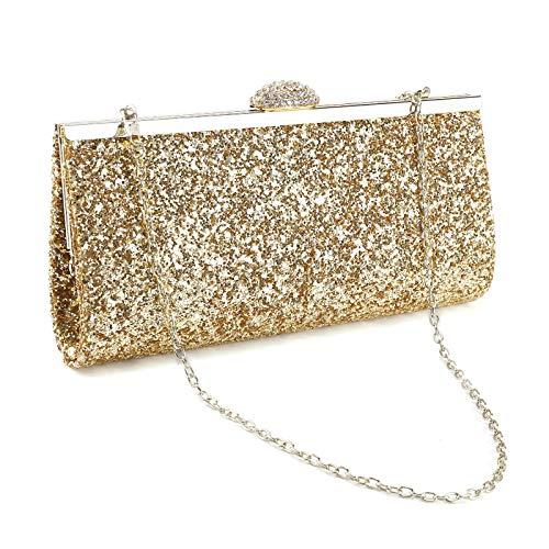SurePromise One Stop Solution for Sourcing Strass Umhängetasche Glitzernd Tasche Damen Glitzer Abendtasche Kette Crystal Handtasche für Party Hochzeit