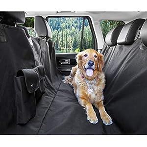 BarksBar Original Pet Seat Cover for Cars – Black, Waterproof & Hammock Convertible