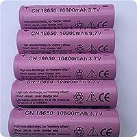 8ピース/セット18650 LED懐中電灯のバテリアリチオ電池セルのためのバッテリー3.7V 10800mAh充電式株式バッテリー