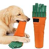 Zanahoria IQ Sniffing Play Toys Reciclable Plástico Botella de Tela Cubra Sound Plug Perro Paño Perro Perro Zanahoria Peluche Juguete de Navidad Juguete