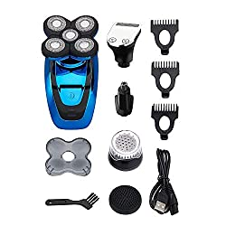 powerful Electric shaver KEMEI, razor for men, razor for bald head, 5 in 1 rotation, hair clipper for nose hair …
