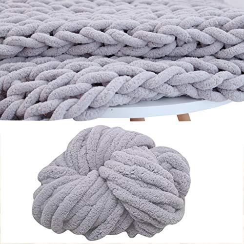 YAOJING Filato di lana per lavori a maglia grossa, super morbido, per lavori a maglia, uncinetto, per lavori a maglia grossa, 2.5cm×18m, 300g