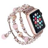 SEANADO Bracelet Compatible avec Apple Watch/iwatch 38mm 40mm 42mm 44mm pour Bracelet...