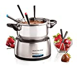 Nostalgia FPS200 6-Cup Stainless Steel Electric Fondue Pot with Temperature Control, 6 Color-Coded...