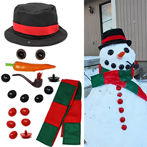 JOYIN Snowman Kit Build Your Own Snowman Kids First Snowman Decorating Kit
