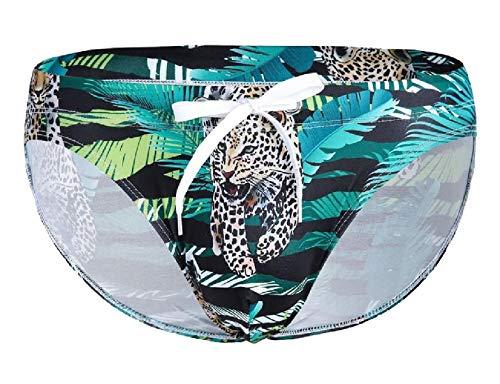 dahuo Men 3D Leopard Animal Print Bikini Briefs Funny Underwear Pantie 1 L