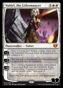 Magic The Gathering - Nahiri, The Lithomancer (010/337) - Commander 2014