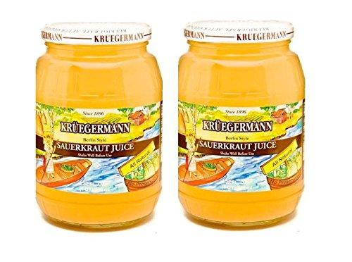 SHIPS FREE Get 2 (32 fl.oz) Jars Sauerkraut Juice By Kruegermann (64 fl.oz)