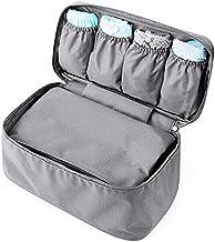 Go2buy Waterproof Portable Protect Bra Underwear Lingerie Case Travel Organizer Bag (Grey)