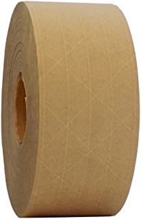 T.R.U. WAT-WAE Water Activated Reinforced Kraft Paper Gummed Tape: 2.75 inches x 450 feet (Pack of 1)