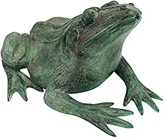 Frog Weather Proof Bronze Finish Plow /& Hearth Garden Animal Reading Statue