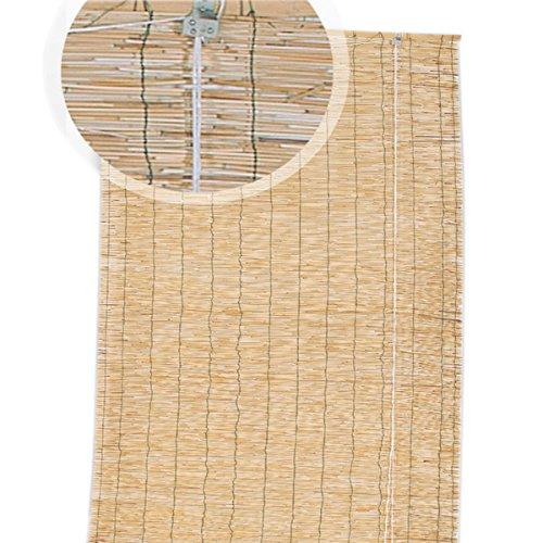 EV rolluiken jaloezie in bamboe C/trekkoord 150 x 300 cm rileg. In nylon termosingolo deur venster privacy licht