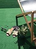 Rasenteppich Meterware COMFORT - Grün, 1,33m x 1,00m, Wasserdurchlässiger Vlies-Rasen mit Noppen, Pool-Unterlage Poolmatte, Outdoor Teppich, Bodenbelag für Balkon, Terrasse & Aussenbereiche - 2