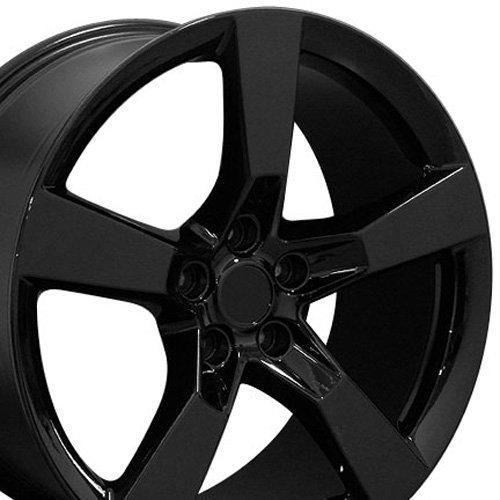 OE Wheels LLC 20 Inch Fits Chevy Camaro 10-2020 SS Style CV11 20x9 Rims Gloss Black SET -  9449229