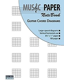 MUSIC PAPER NoteBook - Guitar Chord Diagrams