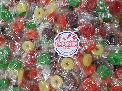 LifeSavers - 2 lbs of Fresh Bulk Individually Wrapped Cherry Raspberry Pineapple Watermelon Orange Candy with Refrigerator Magnet