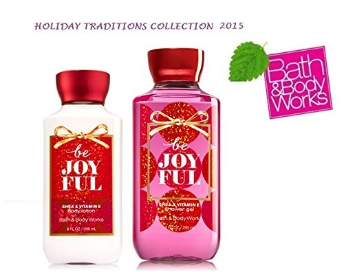 Be Joyful Bath & Body Works Holiday Traditions 2015 DUO - Body Lotion and Shower Gel Gift Set