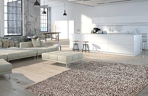 Moderner Shaggy Teppich My Lounge 440 von Obsession - in schlingen Optik, Handarbeit der Premiumklasse, in warmen wohnfarben (160 x 230 cm, Lou 440 Kaffee braun)