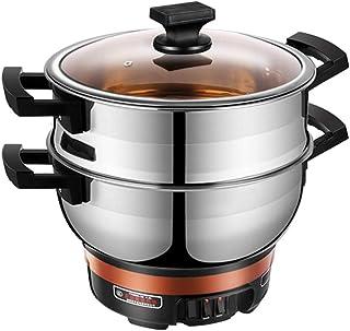 Multi-función eléctrica cocina arrocera hogar 2-4 personas arroz cocina wok olla cocinar una olla,Silver,S