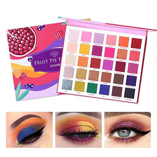 YHJGKO Maquillaje Sombra de Ojos de la Gama, Sombra de Ojos Sombra de Ojos Mate 30 para llenar Las Frutas Tarta de Color Rica Paleta de Maquillaje Mate Brillo del Pigmento de la Gama