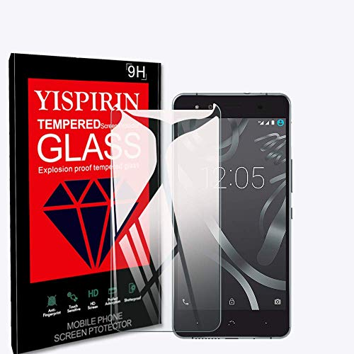 YISPIRIN [3 Piezas] Cristal Templado para BQ AQUARIS X5, Dureza 9H, Anti - arañazos Anti-Rasguño,Fácil de instalar, Vidrio Templado Protector de Pantalla para BQ AQUARIS X5