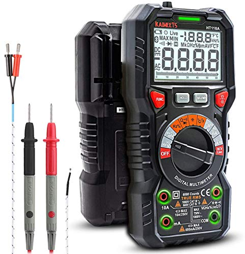 KAIWEETS Digital Multimeter TRMS 6000 Counts Ohmmeter...