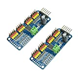 PCA9685 16 CH 12Bit PWM Servo Motor Driver Board Controller IIC Interface for Arduino Raspberry Pi Zero/Zero W/Zero WH/2B/3B/3B+ and Robot (2pcs)