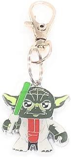 Handmade Star Wars inspired Yoda Character Keychain Backpack Zipper Animal Collar Charm