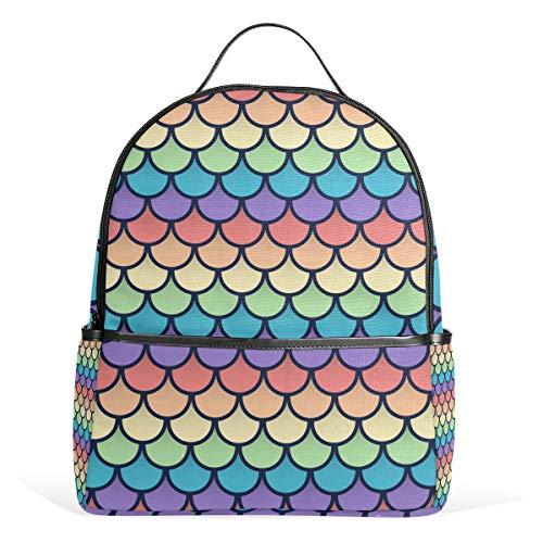Orediy Kinder Rucksäcke Regenbogenfisch Schule, Büchertasche, Freizeitrucksack für Jungen & Mädchen