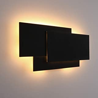 """Ralbay 15.75""""/40W LED Modern Wall Sconce Indoor Matte Black Wall Mount Light for Living Room Bedroom Staircase Hallway Warm White 3000K"""