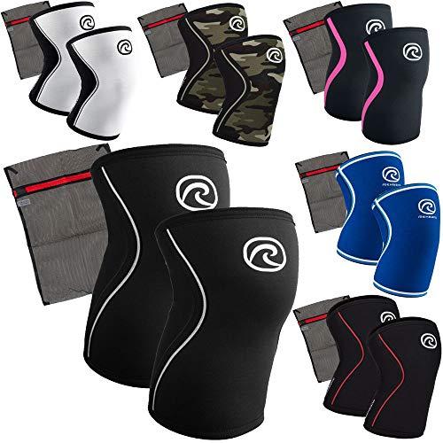 Rehband 7 mm Neopren Kniebandage [1 Paar] - Kniestütze + Ziatec Wäschenetz - Power-Edition, Größe:M, Farbe:schwarz