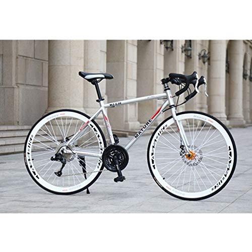 velocità variabile HZZ-ZZ □□ Bicicletta da Studente 27 Pollici MZ-C30 in Alluminio Soldi di Alluminio Bike Double Disc Freno a Disco 700C 21 velocità □□ Supervible Sunshine20.