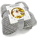 Parayoos Washable Dog Blanket for Cats Puppys Premium Fluffy Fleece Soft Warm Pet Dogs Blanket Pets Throw (80x62cm, Grey)