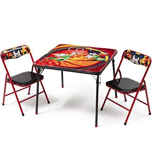 Delta Children's Products Disney Mickey Mouse Kindersitzgruppe Sitzgruppe Klapptisch Klappstuhl KIndermöbel Tisch + 2 Stühle