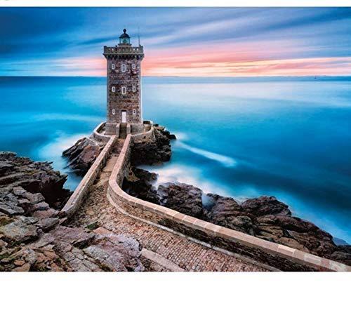 JISMUCI Puzzle Puzzle 1000 Stück Seaside Sunset Lighthouse Kinderspielzeug Home Decoration Ii