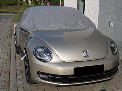 Kley & Partner Halbgarage Auto Abdeckung Plane Haube wasserdicht UV resistent kompatibel mit Volkswagen VW New Beetle Cabrio ab 2012
