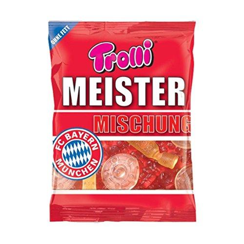 Meistermischung + gratis Sticker FC Bayern MÜNCHEN, Munich - 300 g Fruchtgummi Gummibärchen