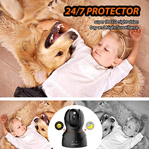 Security Camera WiFi IP Camera - KAMTRON HD Home Wireless Baby/Pet Camera with Cloud Storage Two-Way Audio Motion Detection Night Vision Remote Monitoring,Black