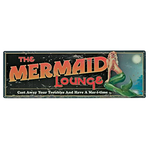 Design Toscano The Mermaid Lounge Antique Look Tintype Sign