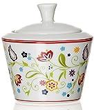 Ritzenhoff & Breker Zuckerdose und Milchkännchen Set Doppio Shanti, 2-teilig, Porzellan , Floral - 2