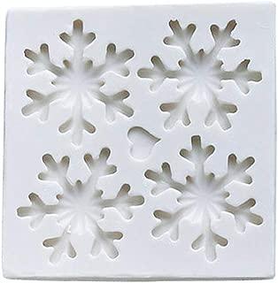 ZHIZHOU 3D Christmas Theme Snowflake Soap Fondant Mold Suger Cake Chocolate Decorating