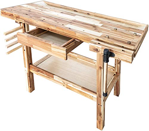Olympia Tools 48-Inch Hardwood Workbench 330lbs Weight Capacity, 88-128-917