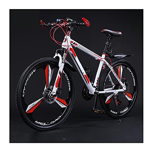 GWL Bicicleta De MontañA para Adultos, Freno De Disco Doble, Amortiguador, Todoterreno, Ligero, Bicicleta De Carreras, Estudiante, Hombre, Mujer, Bicicleta, Adolescente/D / 26inch