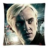 KLDECOR Arts Harry Potter Draco Malfoy Unique Custom Zippered Pillow Case Fundas para Almohada (60cmx60cm)