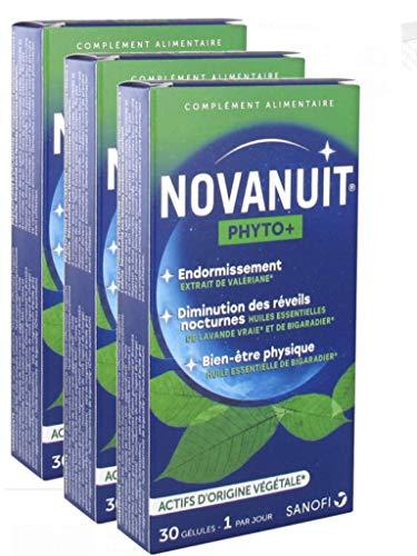 Novanuit PHYTO + - Actifs d'Origine VEGETALE - 3 MOIS Lot de 3 Boites de 30 Gélules