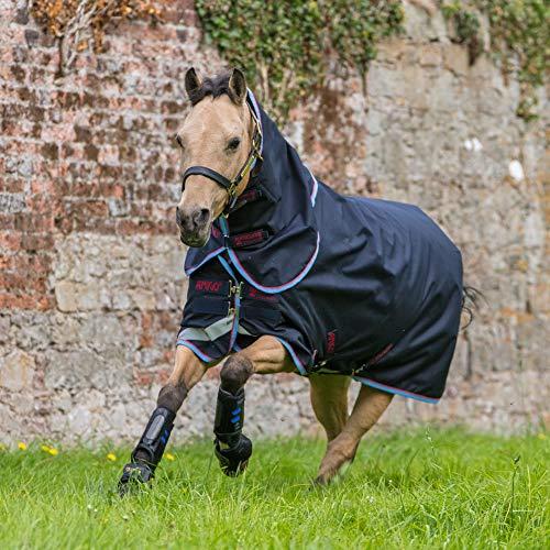 Horseware Amigo Bravo 12 Pony Turnout Plus Lite 0g - Navy/Red & Blue