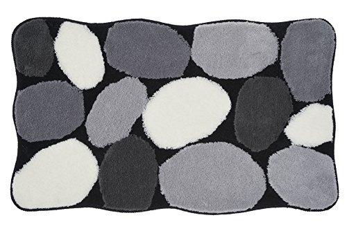 Kleine Wolke 8972926360 Badteppich Stone , 60 x 100 cm, schwarz
